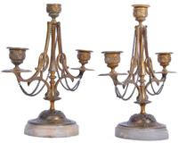 Pair of French Candelabra on Marble Bases (2 of 9)