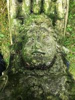 Architectural Feature Medieval Style Stone Cherub Acanthus Scroll Crown Corner Garden Corbel (9 of 13)