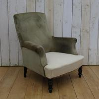Antique Napoleon III Armchair for re-upholstery