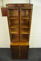 Quality Mahogany Campaign Bookcase on Chest (9 of 9)