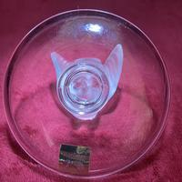 """Lalique """"Sparrow"""" Ring Dish in Clear & Frosted Glass with Original Label (9 of 9)"""
