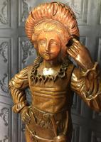 Italian Carved Hardwood Figure of a Boy (3 of 23)