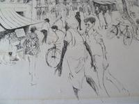 """William Papas """" India  """" Mixed Media Painting 1970's - 4 of 6 Listed (5 of 7)"""