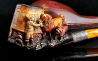 Antique Victorian Meerschaum Pipe, Horse, Man and His Dog (5 of 15)