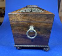 Regency Rosewood Twin Canister Tea Caddy (10 of 17)