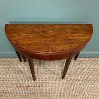 Georgian Mahogany Demi Lune Tea Table / Console Table (3 of 5)