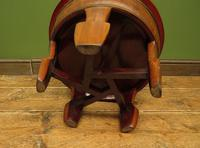 Antique Chinese Wooden Stool with Red Cushion (11 of 13)