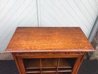Antique Slim Glazed Oak Bookcase (9 of 11)