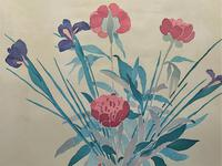 Large Original Japanese Inspired Floral Still Life Watercolour Painting (10 of 12)