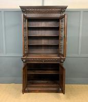 Imposing Carved Oak Bookcase (4 of 23)