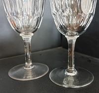 Pair Of Early Victorian Hand Cut Wine Glasses c.1845. (3 of 4)