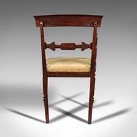 Antique Elbow Chair, English, Mahogany, Carver, Drop-in Seat, Regency c.1820 (6 of 12)
