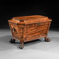 Regency Mahogany Wine Cooler Cellarette of Sarcophagus Form (3 of 10)