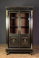 French Napoleon III Inlaid Brass Bookcase (11 of 11)