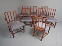 Antique Set of 8 George III Mahogany Dining Chairs (4 of 11)