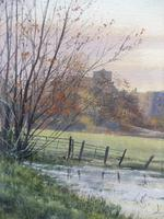 Watercolour Amberley Sunset Listed artist Andrew Dandridge (Free shipping to Mainland England) (4 of 10)