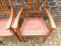 A Pair of Arts and Crafts Oak Chairs (9 of 10)