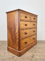 Victorian Satin Birch Chest of Drawers (7 of 9)