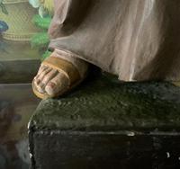 Bohumil Kafka RARE Carved Statue Sculpture St Anthony & Jesus (25 of 32)