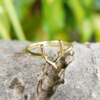 Vintage 18ct Gold Wishbone Ring from 1945 (3 of 5)