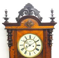 Superb Antique German Twin Walnut 8-Day Mantel Clock Vienna Striking Wall Clock (8 of 10)