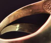 Vintage 9ct Gold Masonic Swivel Ring, Signet, Blue Enamel (8 of 13)