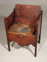 Attractive George III Period Mahogany Night Commode (4 of 5)