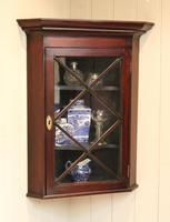 Mahogany Corner Wall Cabinet (9 of 9)