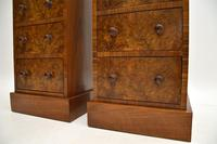 Pair of Antique Victorian Burr Walnut Bedside Chests (4 of 10)