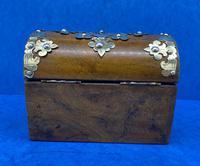 Victorian Brassbound Walnut Box c.1850 (6 of 10)