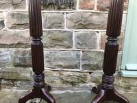 Pair of Antique Mahogany Floor Standard Lamps (6 of 7)