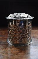 Antique Solid Silver Tea Caddy (4 of 5)
