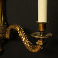 French Gilded Bronze Twin Arm Wall Lights (10 of 10)