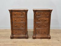 Pair of Walnut Bedside Chests of Drawers attributed to Gillows