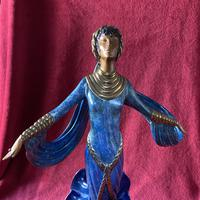 "Erte (romain De Tirtoff) Ltd Edition Bronze Sculpture ""Ecstasy"" 163/500 (7 of 16)"