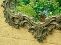 Solid Oak Hand Painted French Mirror (4 of 7)