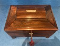 Regency Sarcophagus Rosewood Jewellery Box (5 of 15)