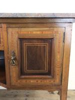 Edwardian Mahogany Sideboard with Marble Top (5 of 9)