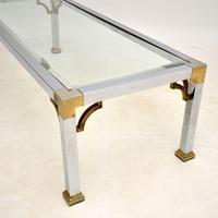 Vintage Chrome & Brass Coffee Table (7 of 8)