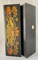 Superb Art Nouveau Pen & Ink Decorated Box (6 of 10)