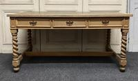Large Oak 6 Drawer Writing Table (2 of 16)
