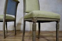 Pair of French Painted Louis XVI Style Side Chairs (10 of 12)