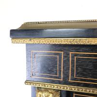 Victorian Ebonised Inlaid Side Cabinet with Brass Mounts (8 of 15)