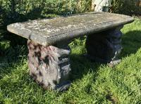Old Weathered Oriental Cast Garden Bench, with Dragons (4 of 11)