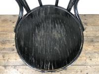 Set of Four Ebonised Bentwood Café Chairs (4 of 14)