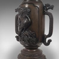 Antique Decorative Vase, Japanese, Bronze, Meiji Period c.1900 (7 of 12)