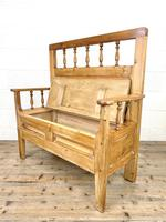 Vintage Pine Settle Bench with Storagev (9 of 10)