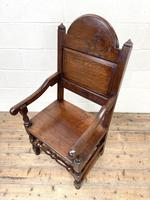 Pair of Antique Oak Throne Chairs (12 of 13)