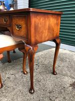 Antique Burr Walnut Dressing Table & Stool (3 of 10)