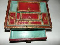 Regency Leather Covered Work Box (6 of 7)